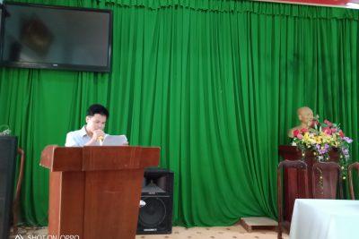 Lễ kết nạp đảng viên chi bộ 1 cho d/c Lê Minh Thuyết